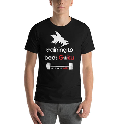 Training To Beat Goku Or At Least Krillin - Black / S - T-Shirt $24.99 Geekwich