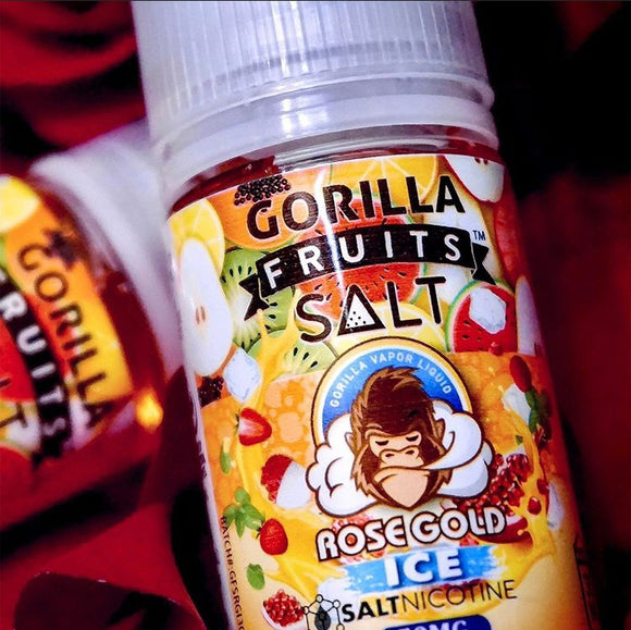 Gorilla Fruits Rose Gold Ice Salt Nic