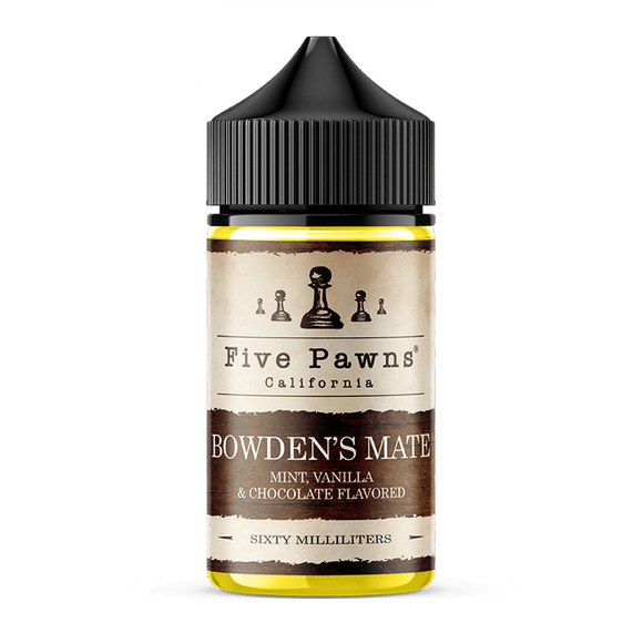 Bowdens Mate Eliquid 60ml - Five Pawns (Chocolate Mint With Vanilla) premium vapes shop uae