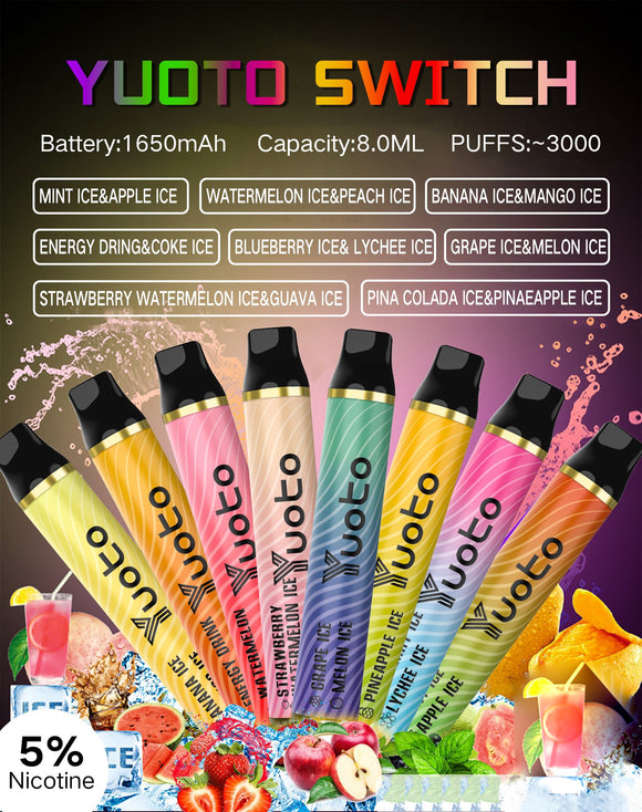 Yuoto Switch Disposable Pod 3000 Puffs (2 Flavors in 1) premium vapes shop uae