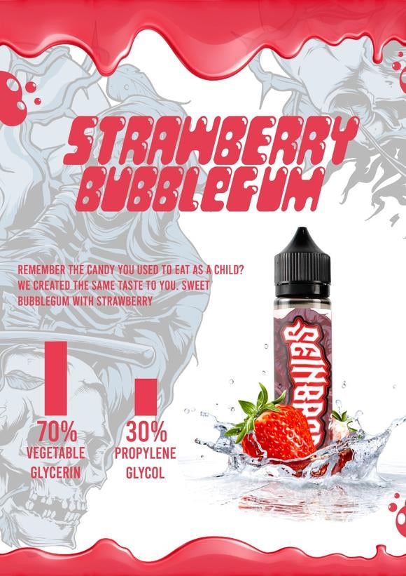 Strawberry Bubblegum Eliquid - Seinbros | Premium Vapes UAE