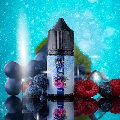 Mega Berry Ice Salt Nicotine 30ml premium vapes shop uae