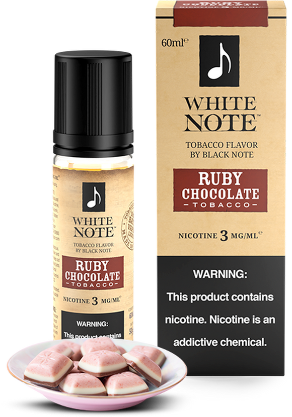 RUBY CHOCOLATE TOBACCO - WHITE NOTE | 60 ML E-LIQUID premium vapes shop uae