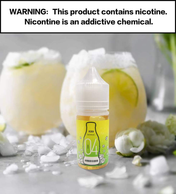 Numbers E-liquid - Number 4 Sprite SaltNic 30ml / 35mg,30ml / 50mg | Premium Vapes shop UAE