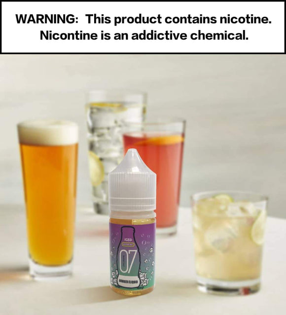 Numbers E-liquid - Number 7 Energy SaltNic 30ml / 35mg,30ml / 50mg | Premium Vapes shop UAE