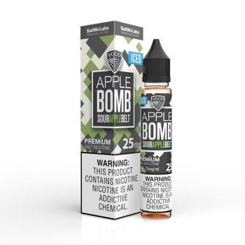ICED APPLE BOMB [SALTNIC] | UAE Vapors R Us - The first vape store in UAE
