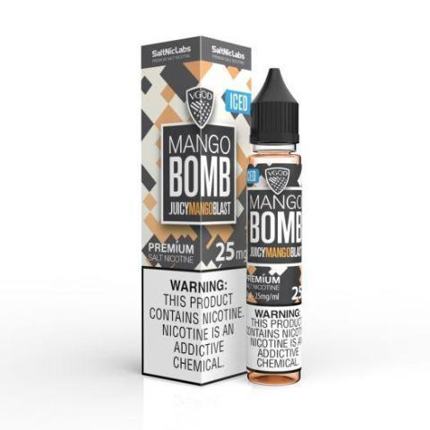 Iced Mango Bomb SaltNic | UAE Vapors R Us - The first vape store in UAE