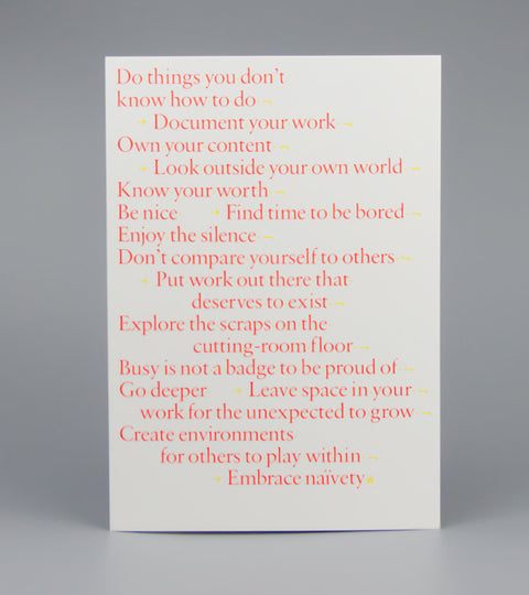 Print at home version of Manifesto for Myself