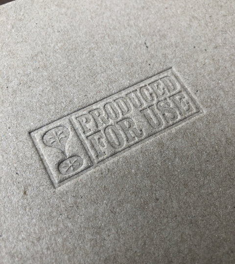 The blind embossed PFU logo