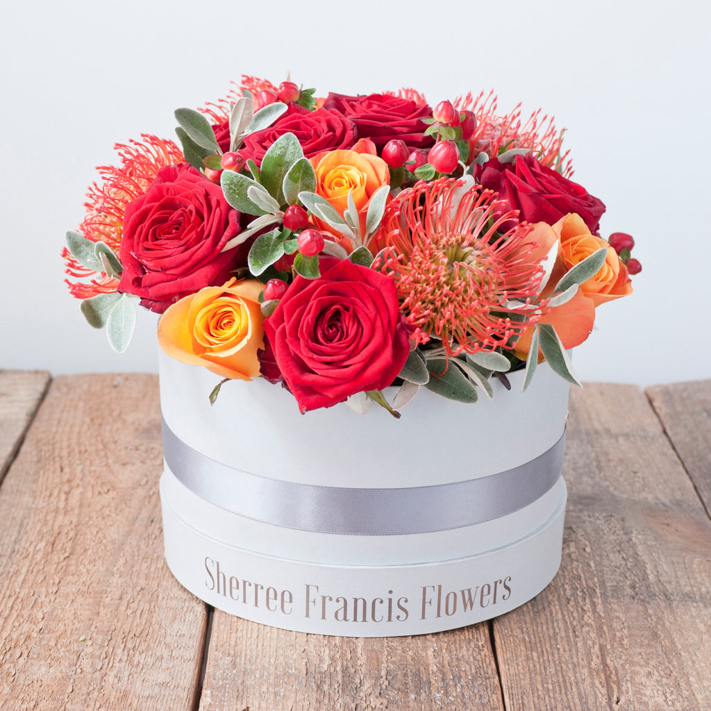 Flower Hat Box Collection - Sherree Francis Flowers