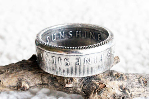 Sunshine Mint Coin Ring - Mallet & Mandrel
