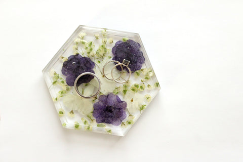 Custom Flower Ring Dish