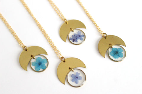Flower Moon Necklace