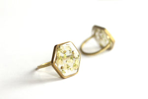 White Baby's Breath Ring, 14k Gold Filled and Brass - Mallet & Mandrel