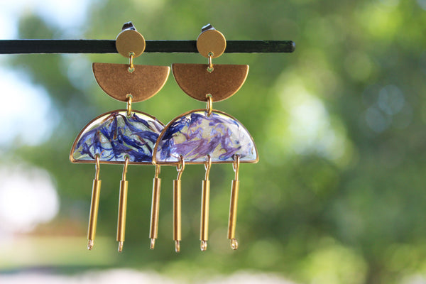 Cornflower Statement Earrings - Mallet & Mandrel