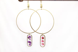 Flower Hoop Earrings - Mallet & Mandrel