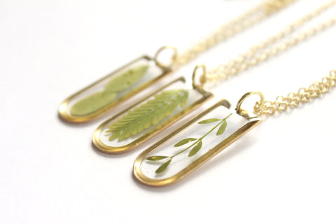 Real Leaf Necklace - Mallet & Mandrel