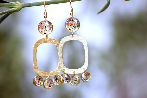 Queen Anne's Lace Statement Earrings - Mallet & Mandrel