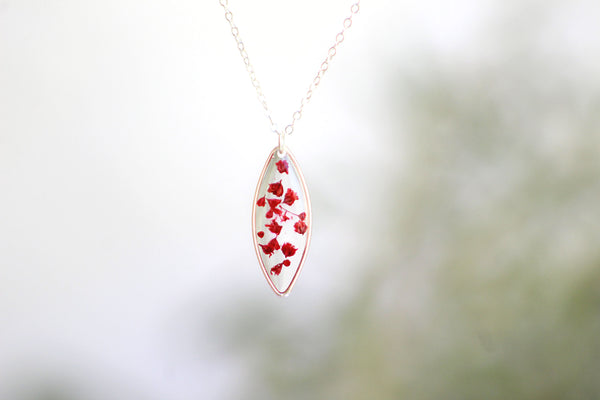 Sterling Silver Baby's Breath Necklace