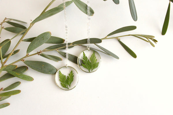 Fern Necklace, Sterling Silver
