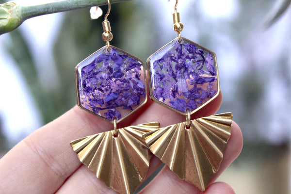 Larkspur Statement Earrings - Mallet & Mandrel