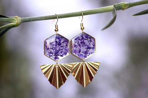 Larkspur Statement Earrings