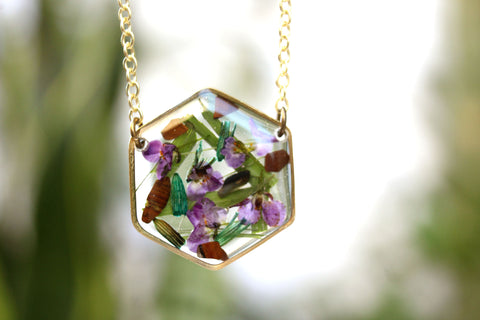 Mixed Flower and Tiger Eye Necklace - Mallet & Mandrel
