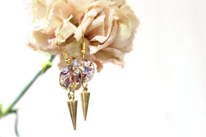 Mixed Flower Earrings, Gold Spike - Mallet & Mandrel