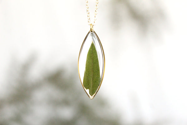 Olive Leaf Necklace