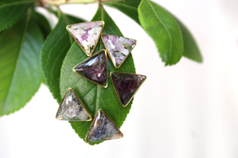 Flower Triangle Studs