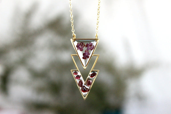 Wildflower Garnet Necklace