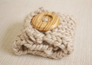 Button Cuff | Button Wrap | Light Wood Button | Simply Maggie