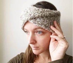 Knitting Pattern | Double-Knit Twisted Turban Headband Pattern | Knit headband | Beginner's Pattern | Simply Maggie
