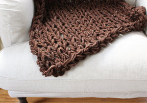 "Chunky Knit Blanket | Arm Knit Blanket | Chunky Throw |  60"" x 48"" 