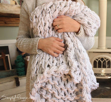 "The BIG Arm Knit Blanket Pattern | Beginner's Pattern | Chunky Blanket | Simply Maggie | 90"" by 72"""