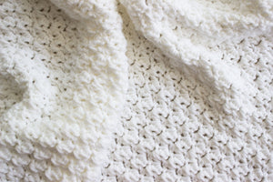 "Crochet Pattern | Suzette Stitch Receiving Blanket | Baby Blanket | Beginner's Pattern | 40"" by 40"" 