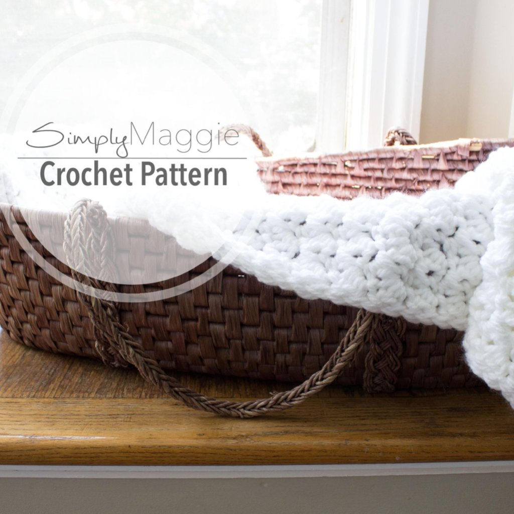 Crochet Pattern | Suzette Stitch Receiving Blanket | Baby Blanket | Beginner's Pattern | 40