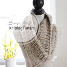 Knitting Pattern | Tri-Style Cowl | Chunky scarf | Shawl | Beginner's Pattern | Simply Maggie