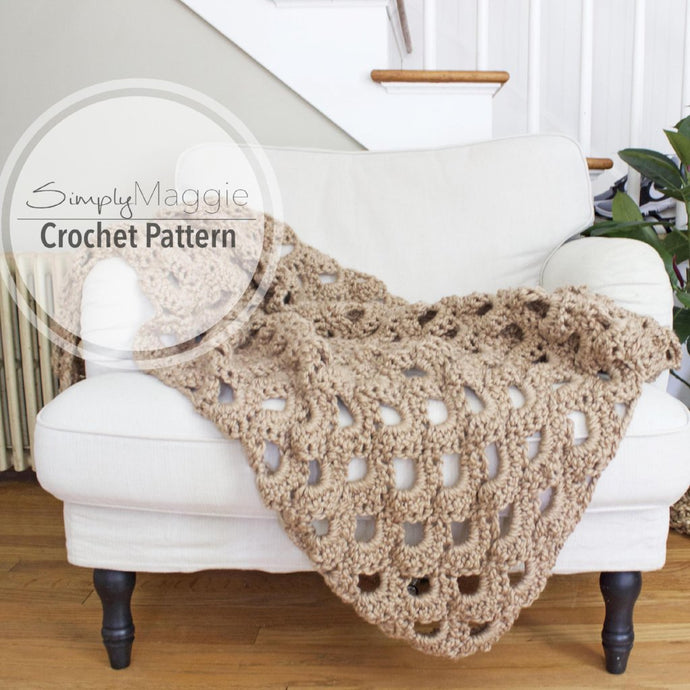 Crochet Pattern | Arcade Stitch Throw | Crochet Blanket | Intermediate Level | 42