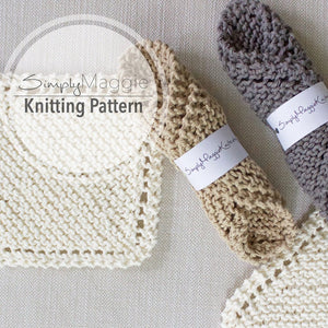 "Knitting Pattern | Knit Scrubbies | Knit Wash Cloth | Beginner's Knitting Pattern | 7"" by 7"" 