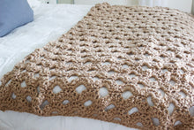 "Crochet Pattern | Arcade Stitch Throw | Crochet Blanket | Intermediate Level | 42"" by 69"" 