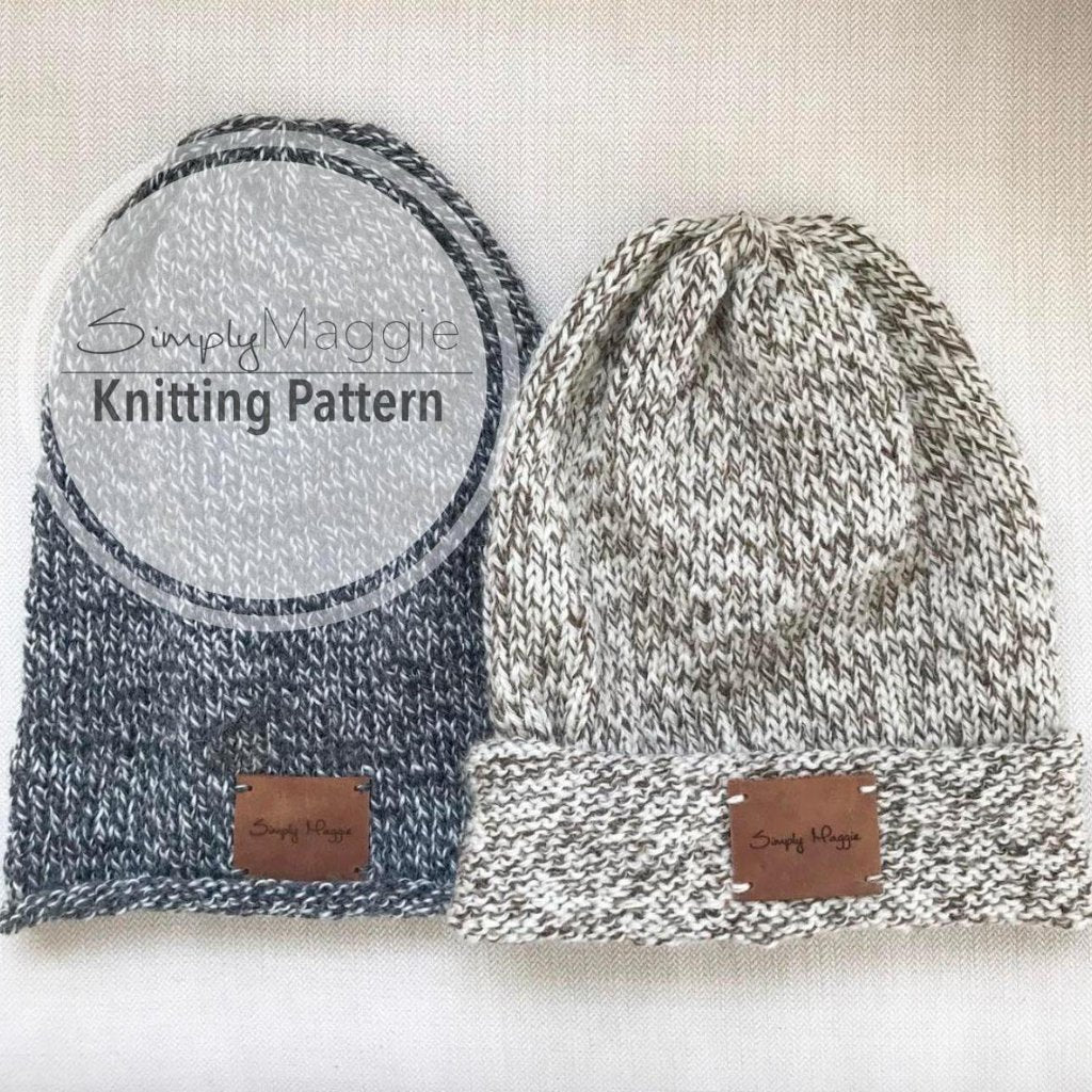 Knitting Pattern | The Long Wool Beanie | Beginner's Pattern | Slouchy Hat | Slouchy Beanie | Simply Maggie