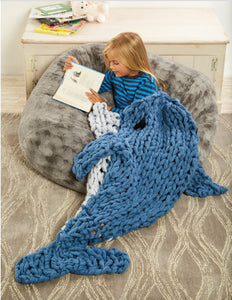 Arm Knitting Pattern | Arm Knit Dolphin Sleep Sack | Animal Blanket | Knitting Pattern | Child's Blanket Pattern | Simply Maggie