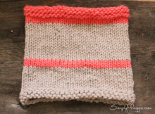 Knitting Pattern | Striped Cowl | Chunky Cowl | Beginner's Pattern | Simply Maggie