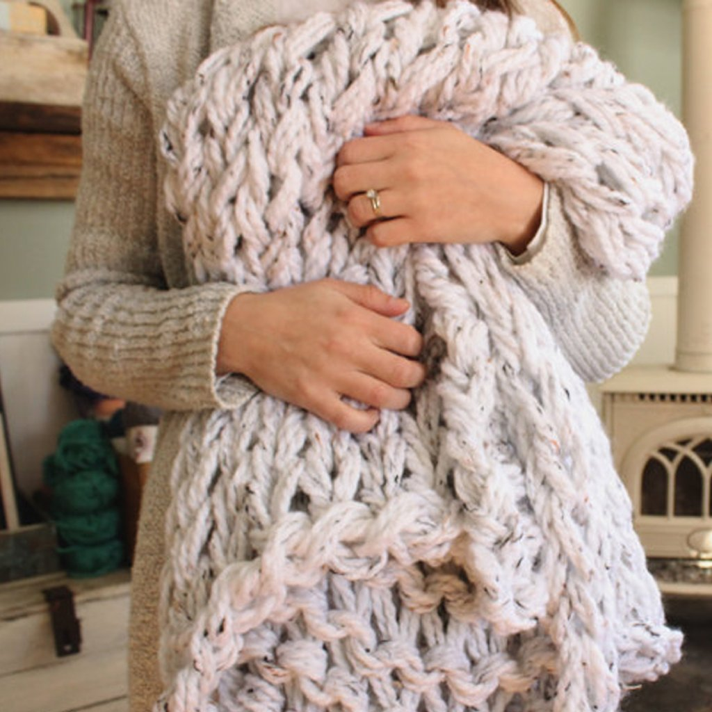 Chunky Knit Blanket | Arm Knit Blanket | Chunky Throw |  60