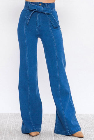 Vivian Wide Leg Denim Pants