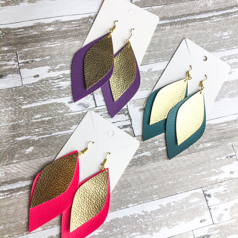 Luna Faux Leather Earrings
