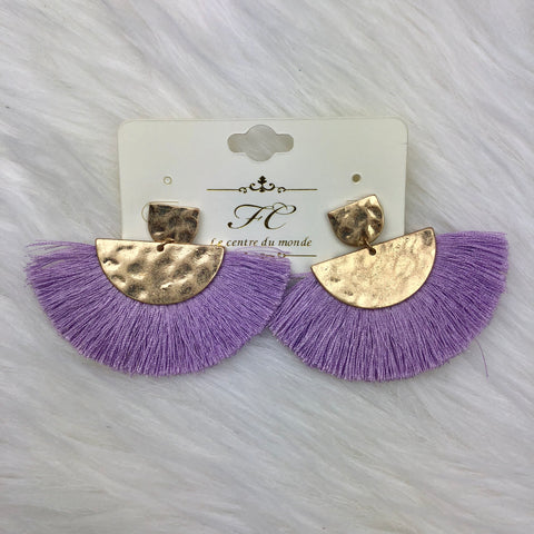 Geo Fan Earrings