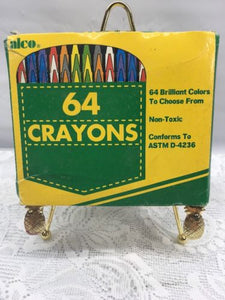 ALCO 64 Crayons Non Toxic Conforms To Astm D-4236 Please See ... Astm D on