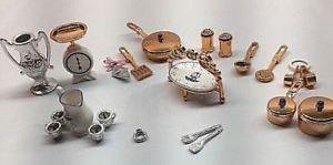 Barbie Special Collection Doll House Copper Color Cookware Set